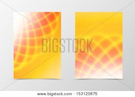 Bright background with orange and yellow shine effect