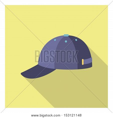 Cap icon in flat style isolated on white background. Clothes symbol vector illustration.