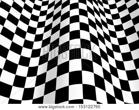 Sports background - abstract checkered flag. 3d render