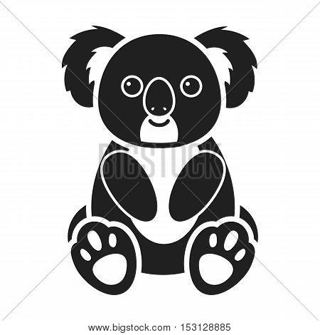 Koala icon in black style isolated on white background. Animals symbol vector illustration.