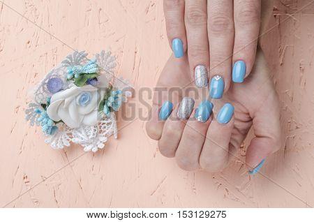 Girl Hand In The Nail Salon