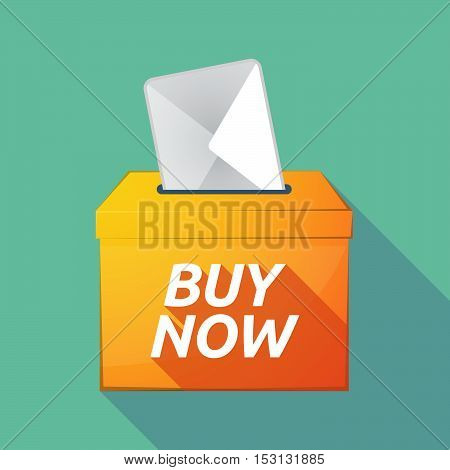 Long Shadow Ballot Box With    The Text Buy Now