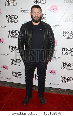 LOS ANGELES - OCT 21:  Guillermo Diaz at the Marco Marco Fashion Show at Globe Theater on October 21, 2016 in Los Angeles, CA