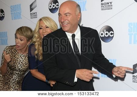LOS ANGELES - SEP 23:  Barbara Corcoran, Lori Greiner, Kevin O'Leary at the