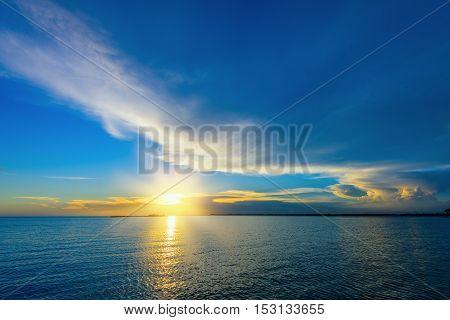 Sea Sunset Quietly