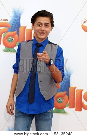 LOS ANGELES - OCT 23:  Isaak Presley at the Trolls Premiere at Village Theater on October 23, 2016 in Westwood, CA