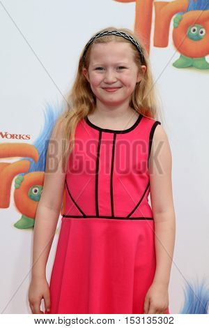 LOS ANGELES - OCT 23:  Abigail Zoe Lewis at the Trolls Premiere at Village Theater on October 23, 2016 in Westwood, CA