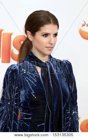 LOS ANGELES - OCT 23:  Anna Kendrick at the Trolls Premiere at Village Theater on October 23, 2016 in Westwood, CA