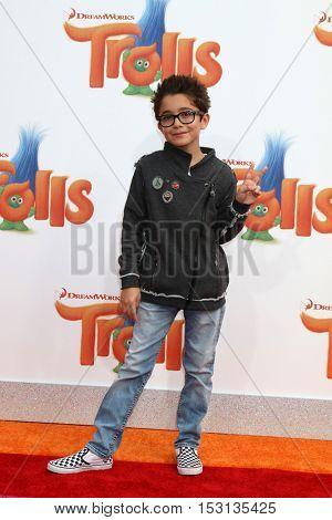 LOS ANGELES - OCT 23:  Nicolas Bechtel at the Trolls Premiere at Village Theater on October 23, 2016 in Westwood, CA