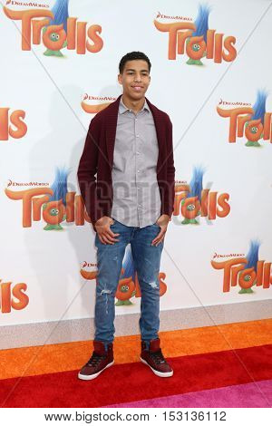 LOS ANGELES - OCT 23:  Marcus Scribner at the Trolls Premiere at Village Theater on October 23, 2016 in Westwood, CA