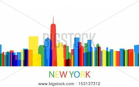 Background Modern City In A Flat Style