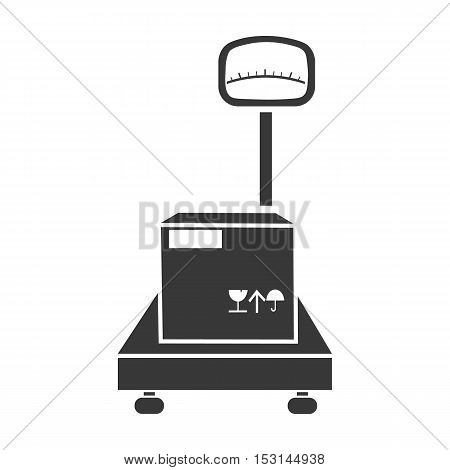 Libra icon in black style isolated on white background. Logistic symbol vector illustration.
