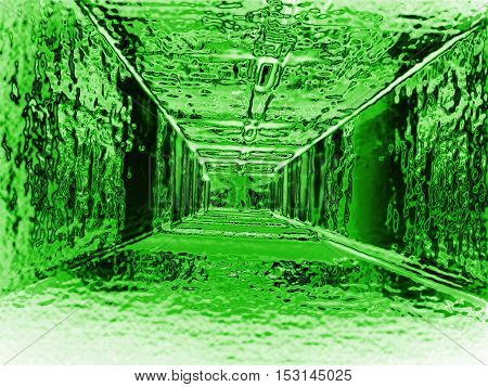 Abstract Green Tunnel