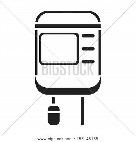Drop counter icon in black style isolated on white background. Medicine and hospital symbol vector illustration.