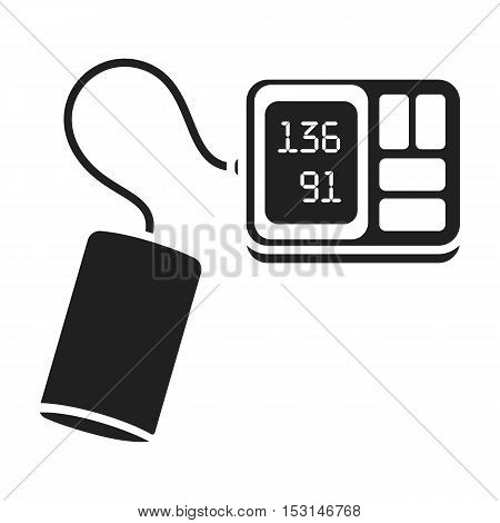 Tonometer icon in black style isolated on white background. Medicine and hospital symbol vector illustration.
