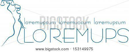 design element for the logo, blue line,  fimida