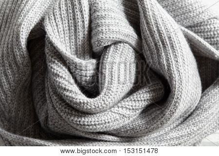 elegant gray knitted cotton fabric texture