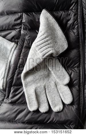 New grey Knit Wool Gloves