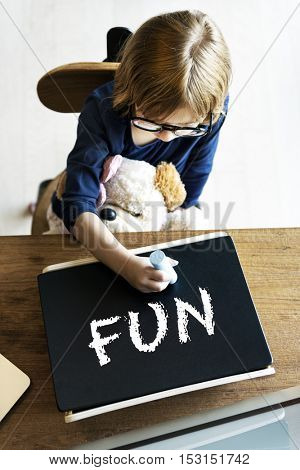Kids Childhood Enjoy Fun Play Activity Concept