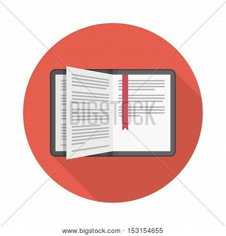 Book vector icon. Vector illustration of education.