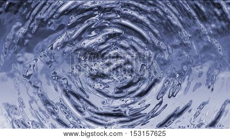 Splash of blue water. Illustration, texture, background.