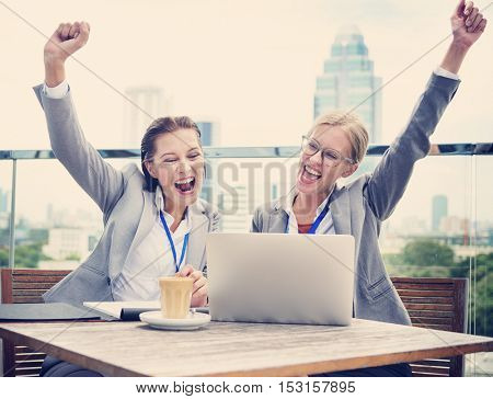 Analysis Business Cheerful Support Strategy Concept