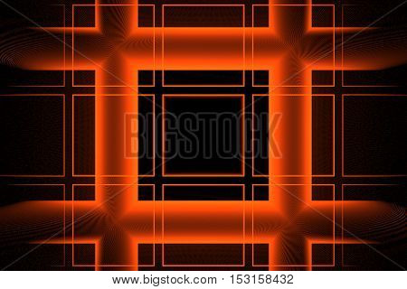 Abstract Background Texture Orange Squares On Black