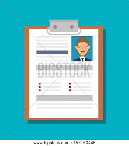 cv document paper isolated icon vector illustration design