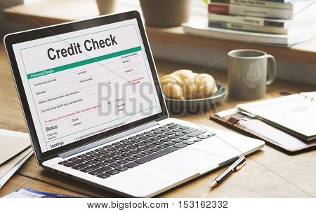 Credit Check Financial Banking Economy Concept