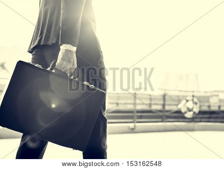 Businessman Worker Rush Hour Concept