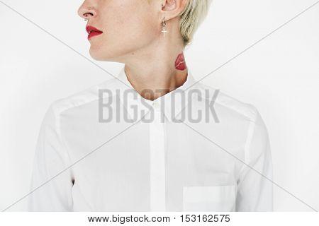 Girl Woman Punk Style Portrait Vogue Attractive Concept