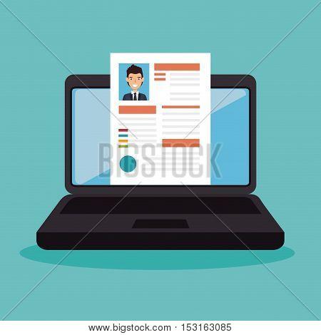 cv recruitment online icon vector illustration design