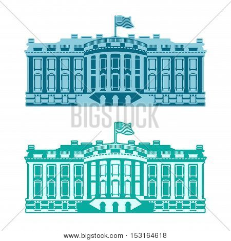 White House America. Residence Of President Usa. Us Government Building. American Political Characte