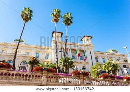 Casino Municipale Sanremo. Beautiful building in the modernist style in the city center.