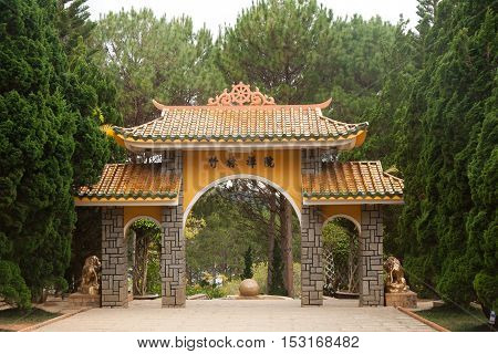HOI AN, VIETNAM - OCTOBER 21: Minh Huong Ancestral Hall, It was built by Chinese settlers in the late 18th century to worship their ancestors who had founded the Minh Huong village on Oct 21, 2014