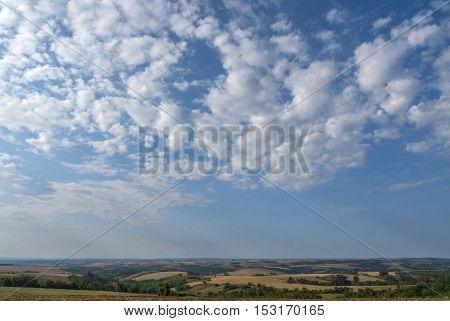 Rural scene sky clouds rural agriculture field
