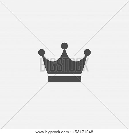 Abstract flat style simple vector crown icon