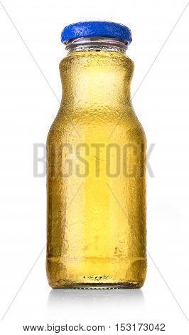 bottles of soda or juice isolated on white background