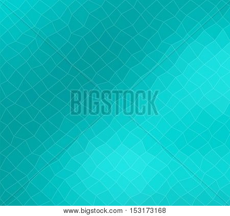 Polygon modern turquoise blue clear background for your content