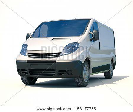 3d render: Delivery Van Icon