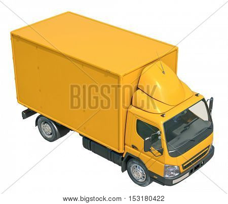 3d Render Delivery Truck Icon