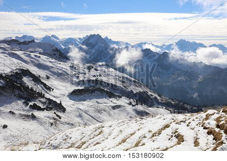 European Alps at Nebelhorn. Oberstdorf. Bavaria. Germany