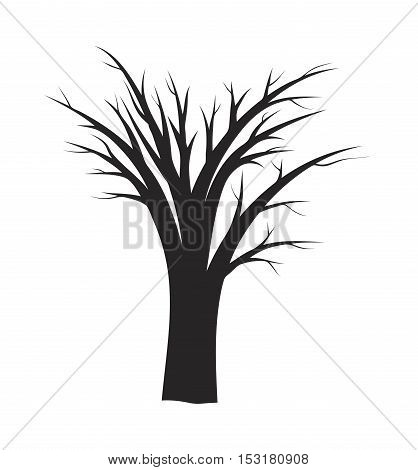 halloween bare tree vector symbol icon design. Beautiful illustration isolated on white background