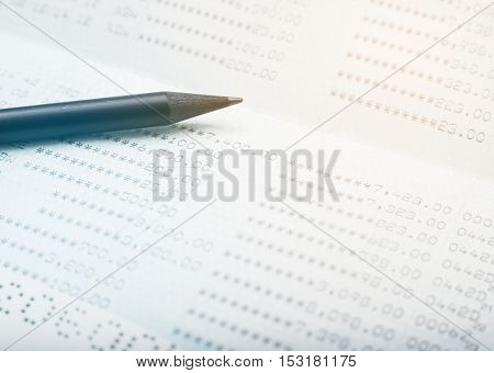 Save money concept, Account bank or bank book with pencil save money and save life filter color style
