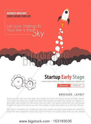 Startup Landing Webpage or Corporate Design Covers to use for web promotons, printed related materials or company presentation. Space for text.