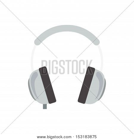 headphone music device  icon over white background. vector illustration