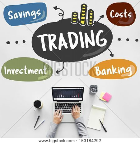 Stock Market Trading Word Diagram Concept