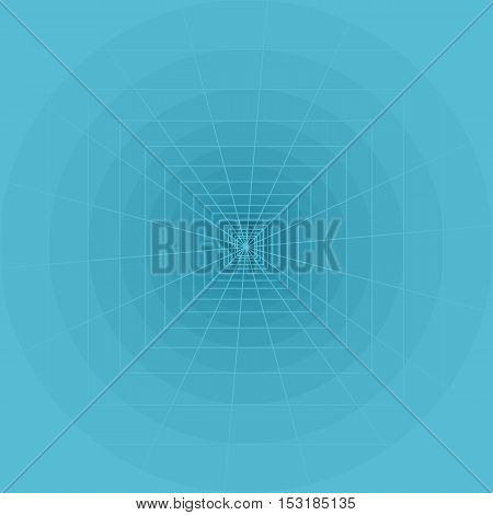 Abstract geometric art with circles, squares and lines.