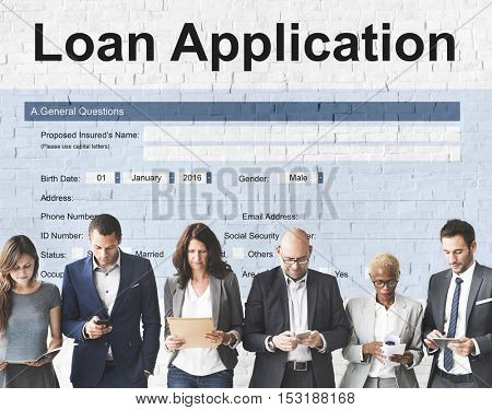 Loan Application Financial Help Form Concept