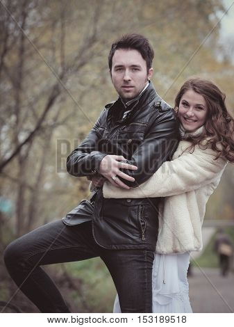 New married couple portrait